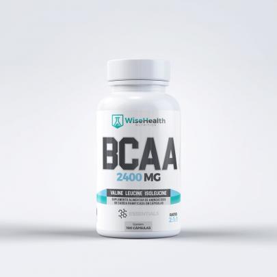 BCAA 2400mg em cápsulas Wise Health Nutrition